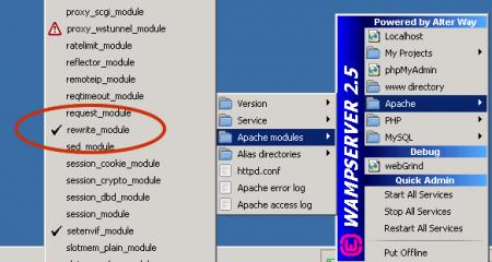wampserver rewrite_module-Apache